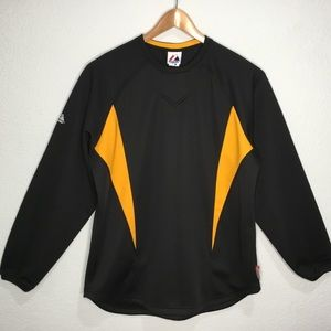 Majestic Athletic black/golden yellow long sleeve